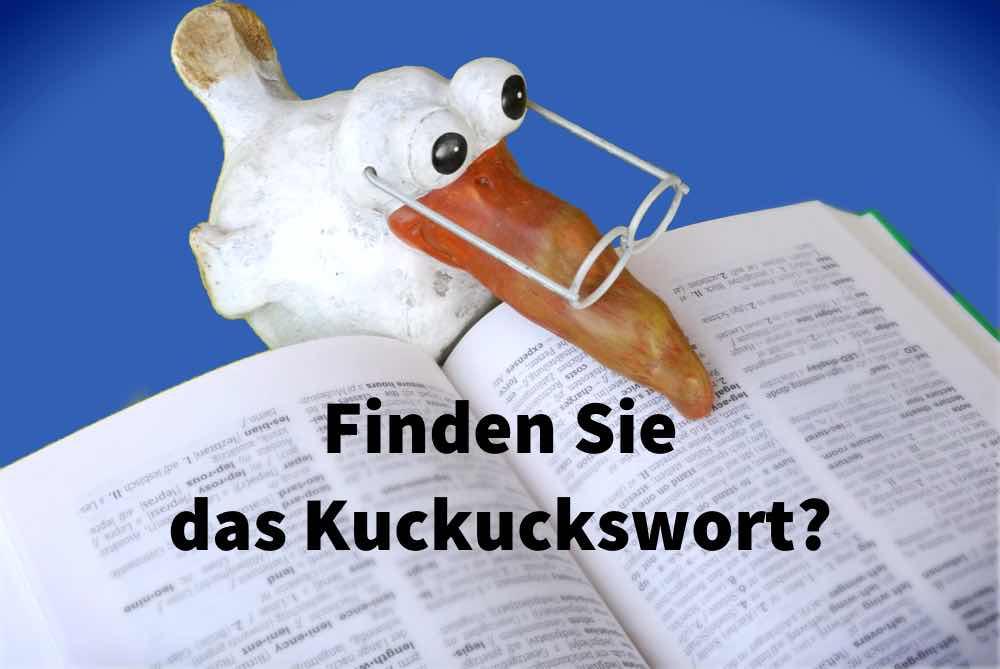 Finden Sie das Kuckuckswort?