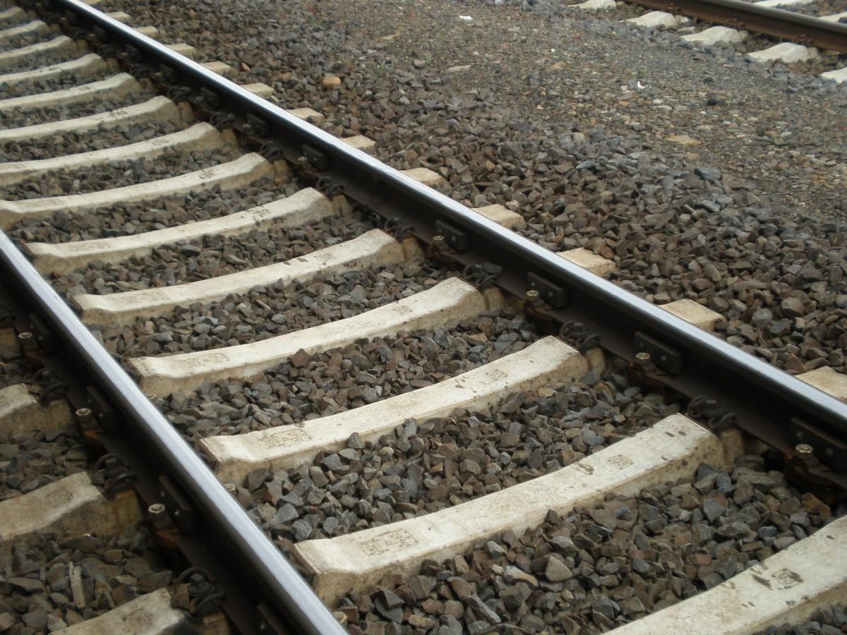 Parallel verlaufende Bahnschwellen aus Beton