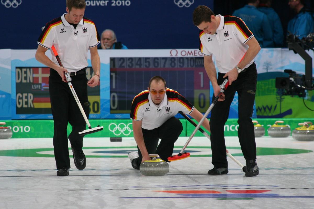 Spielszene beim Curling