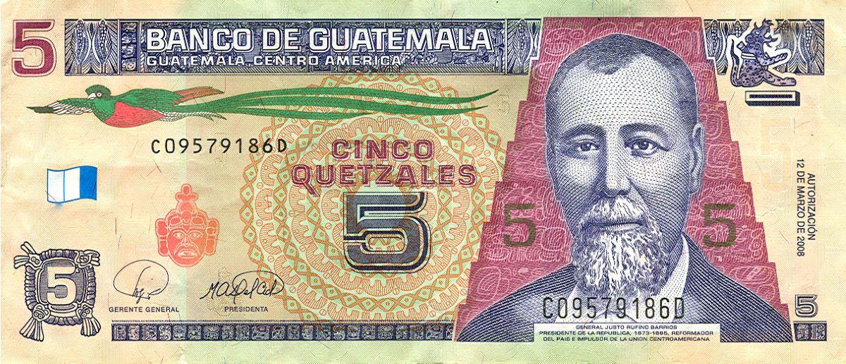 Fünfer (5-Quetzal-Schein)