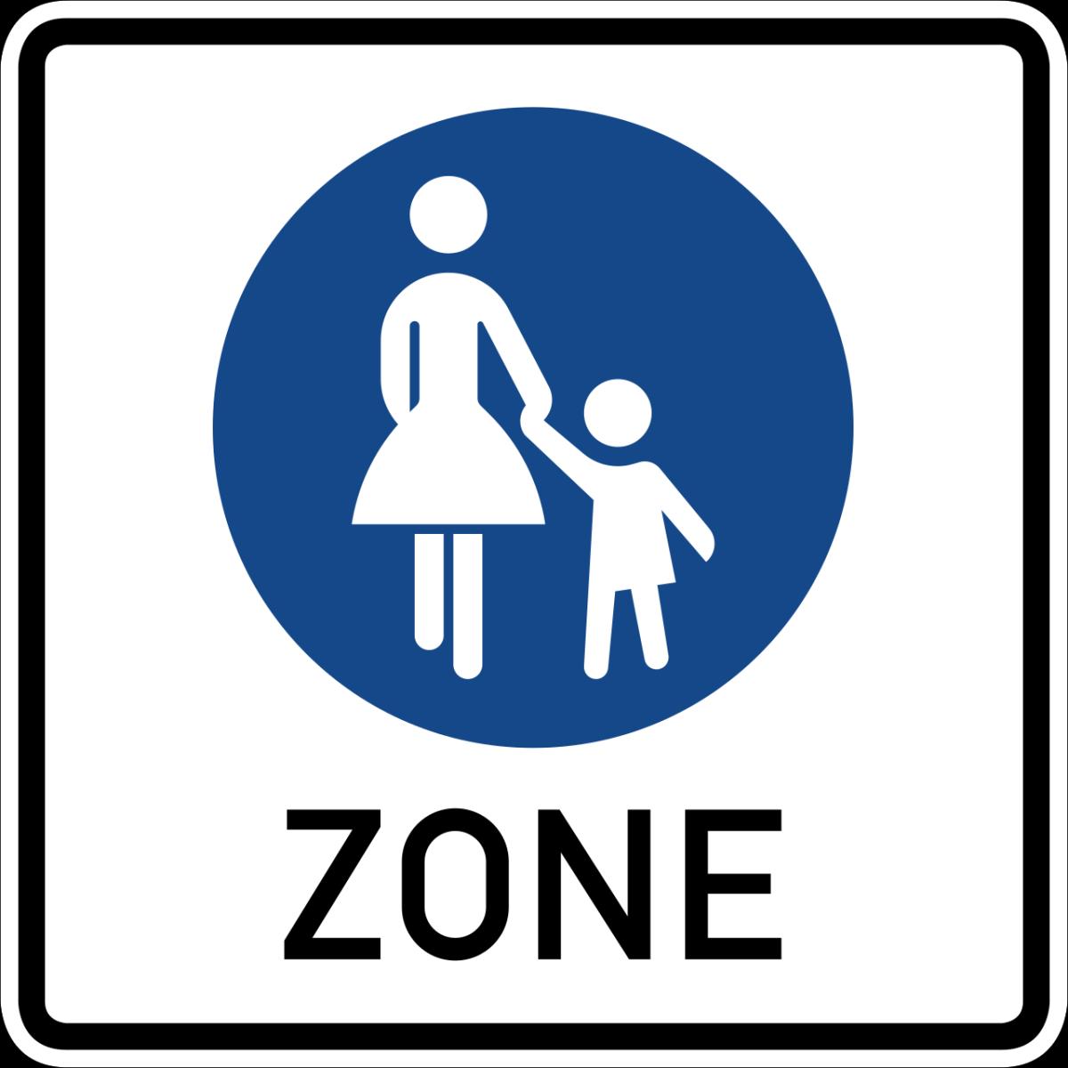Beginn einer Fußgängerzone