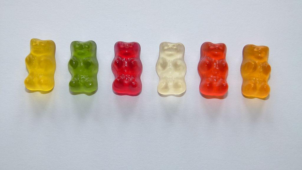 Gummibärchen in verschiedenen Farben