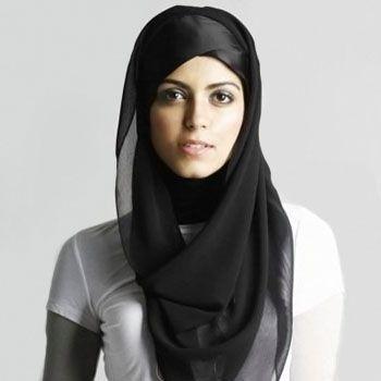 Frau mit Hidschab