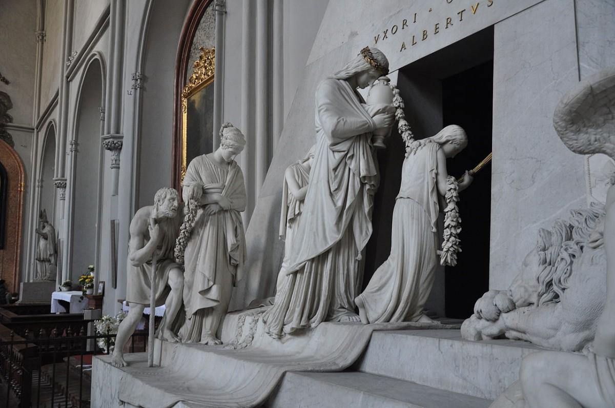 Wien, Augustinerkirche, Grabdenkmal für Erzherzogin Marie                     Christine von Antonio Canova, 1805