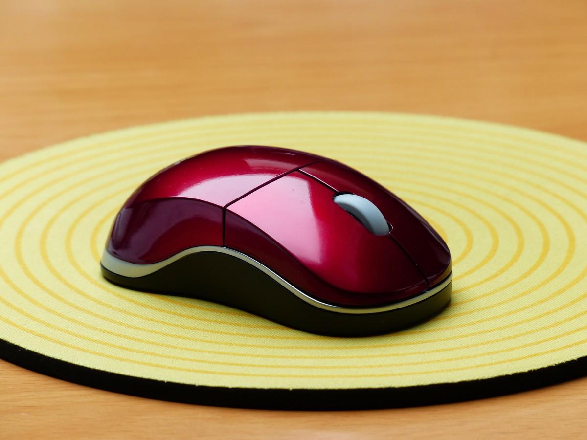Maus auf einem Mauspad