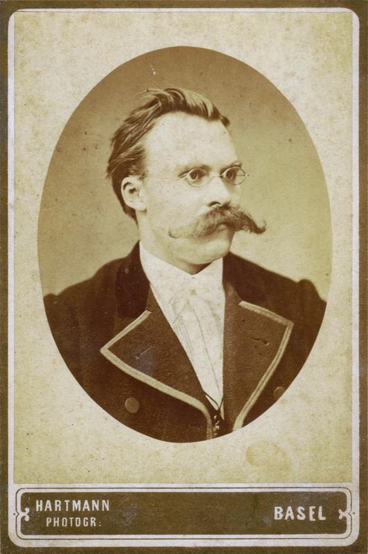 Friedrich Nietzsche mit Schnauzbart