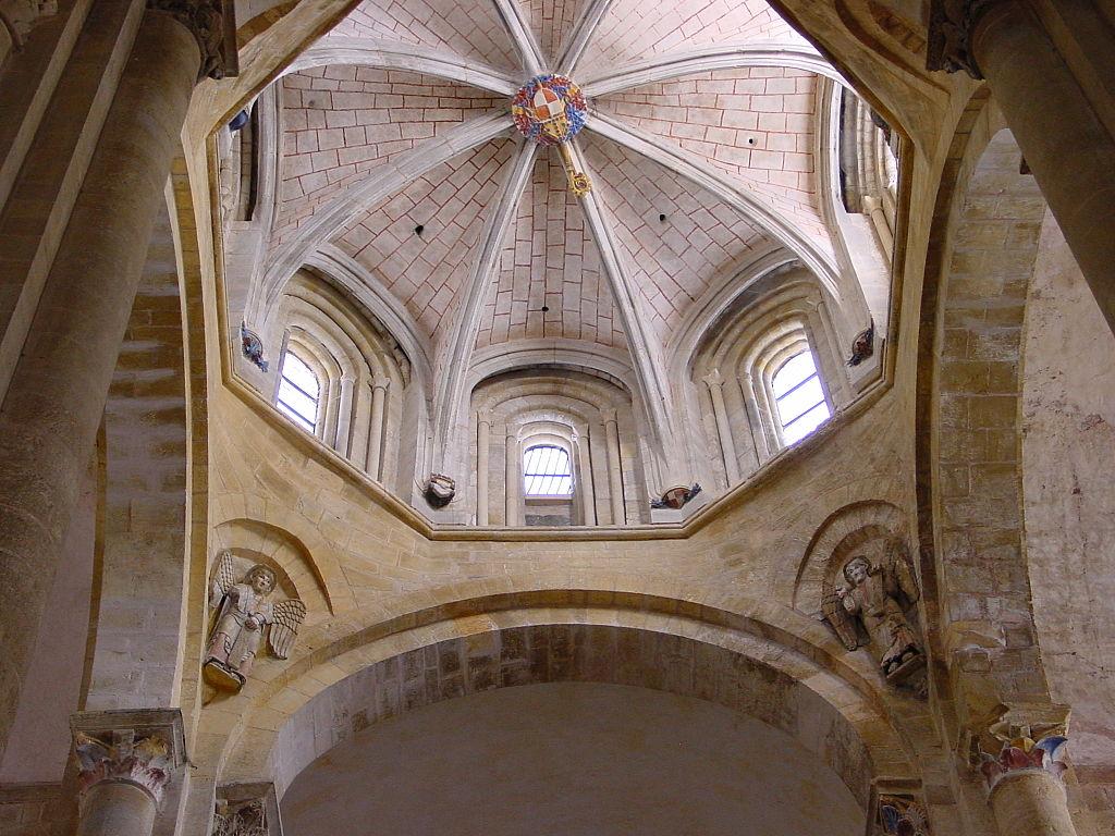 Trompe in der Klosterkirche Sainte-Foy in Conques,                     Frankreich