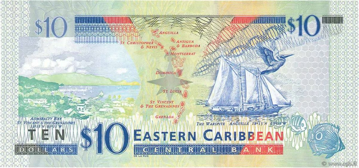 Zehner (10-Ostkaribische-Dollar-Schein)