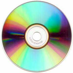 Rückseite einer CD-ROM