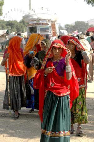 Indische Frauen mit Dupatta