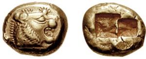 Lydische Münzen aus Elektrum