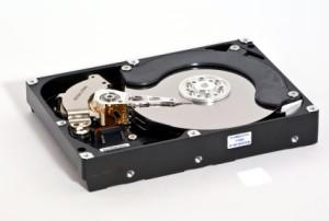 Geöffnete Festplatte