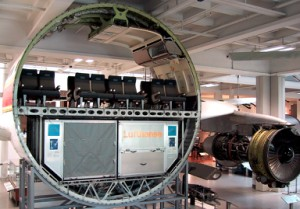 Rumpf eines Großraumflugzeugs: Querschnitt