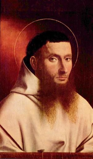 Porträt aus dem 15. Jahrhundert, Darstellung im Halbprofil