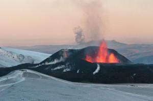 Krater eines Vulkans