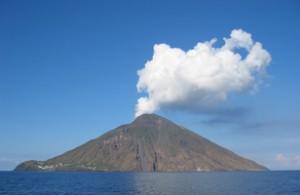 Vulkan auf der Insel Stromboli